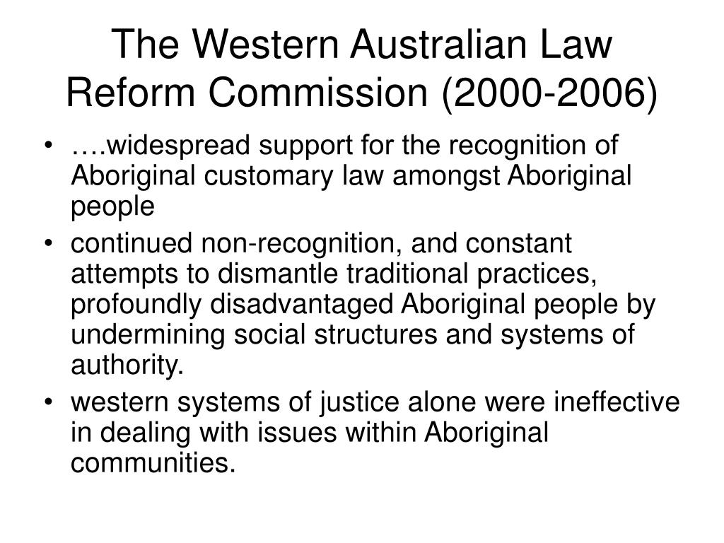 The Western Australian Law Reform Commission (2000-2006)