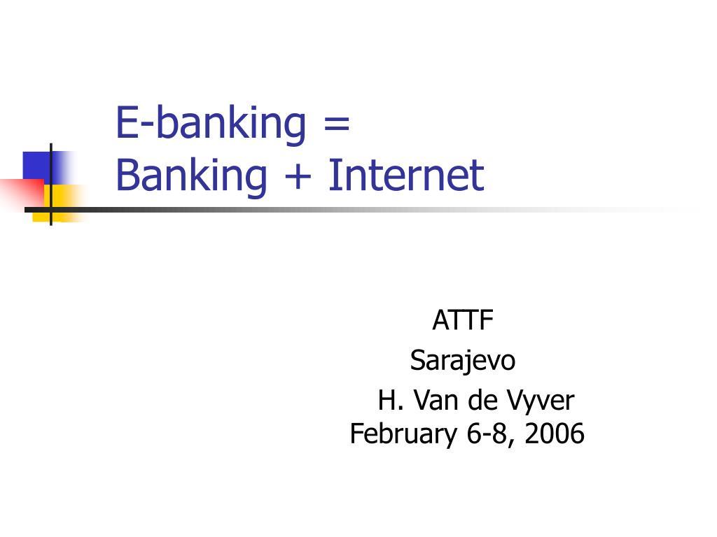 e banking banking internet l.