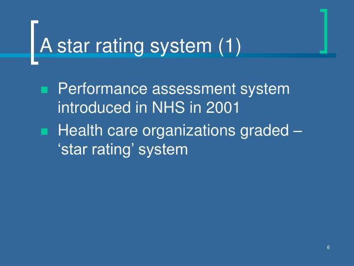 A star rating system (1)