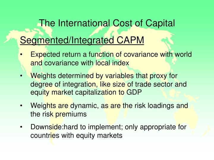 The International Cost of Capital