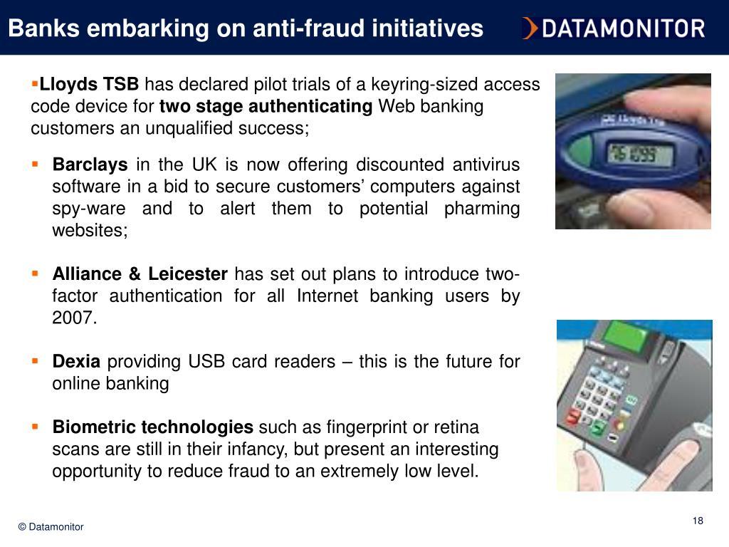 Banks embarking on anti-fraud initiatives