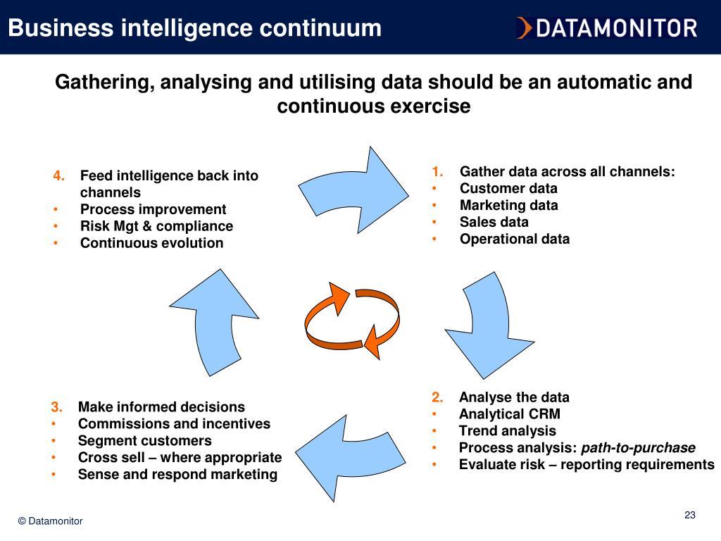 Business intelligence continuum