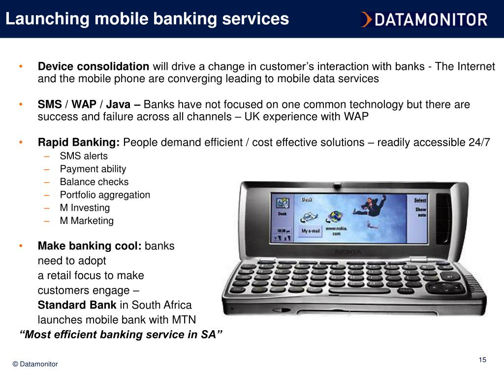 Launching mobile banking services