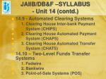 jaiib db f syllabus unit 14 contd11