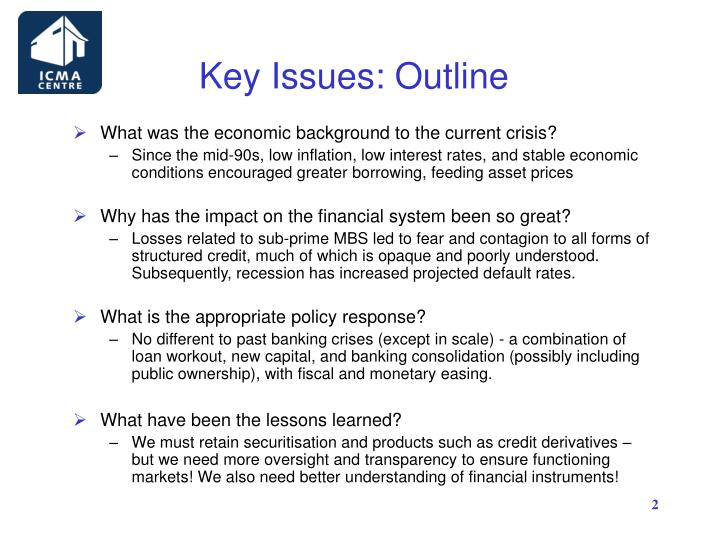 Key issues outline