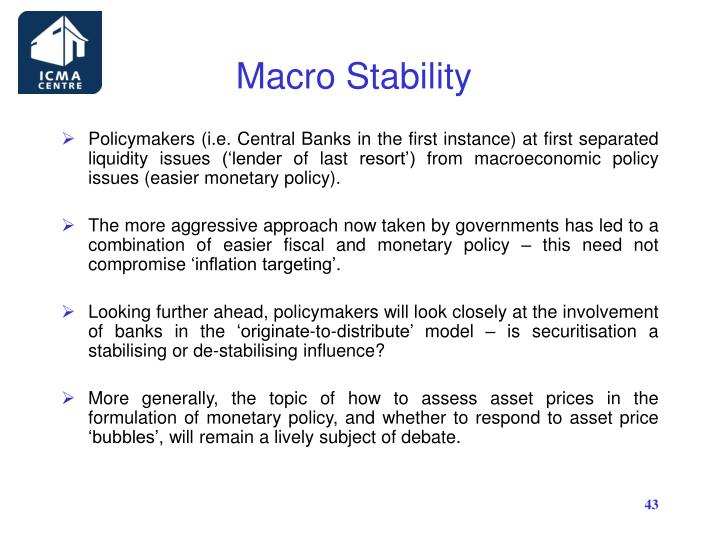 Macro Stability