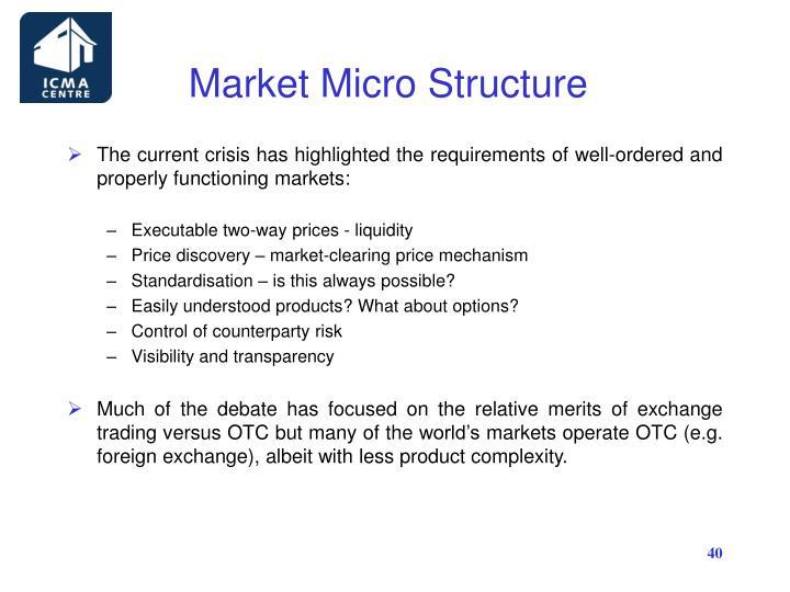 Market Micro Structure