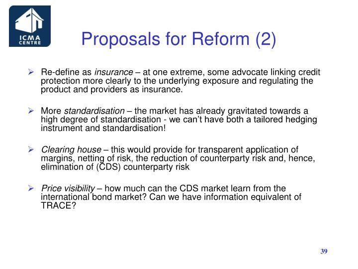 Proposals for Reform (2)
