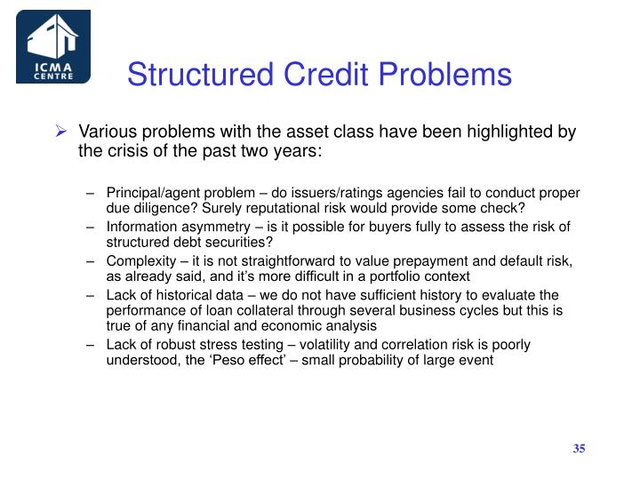 Structured Credit Problems
