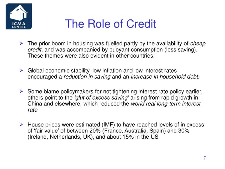 The Role of Credit