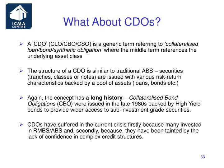 What About CDOs?
