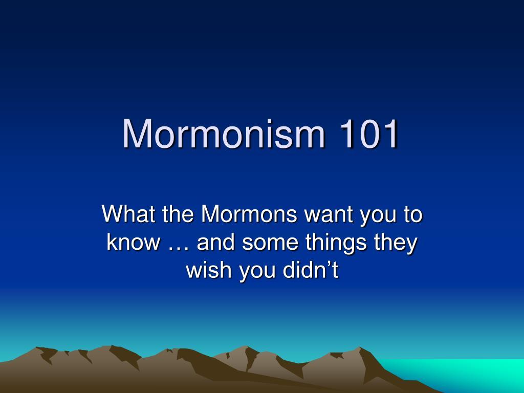 mormonism 101 l.