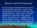 women and the priesthood34