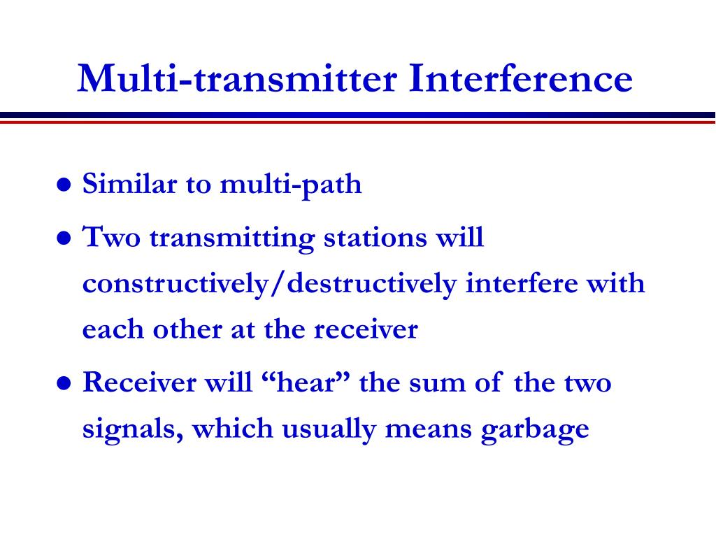 Multi-transmitter Interference