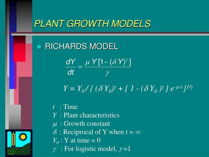 PLANT GROWTH MODELS