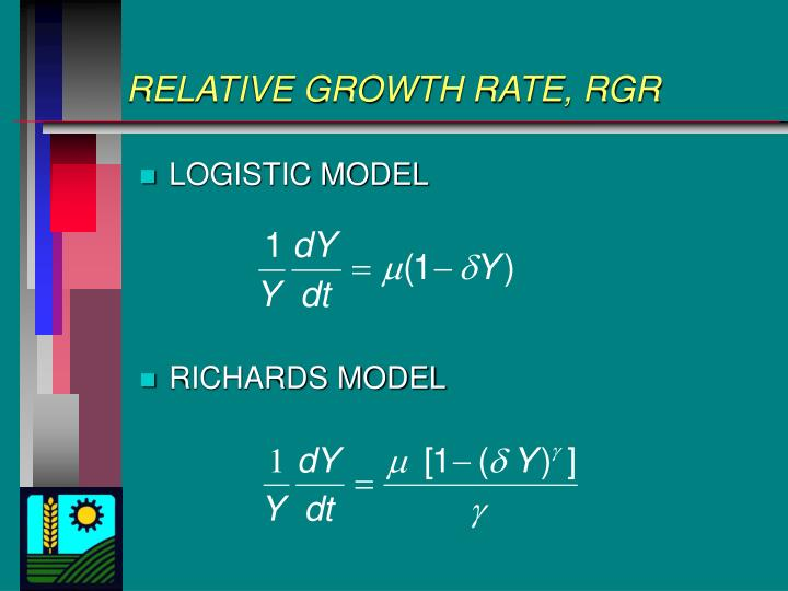 RELATIVE GROWTH RATE, RGR