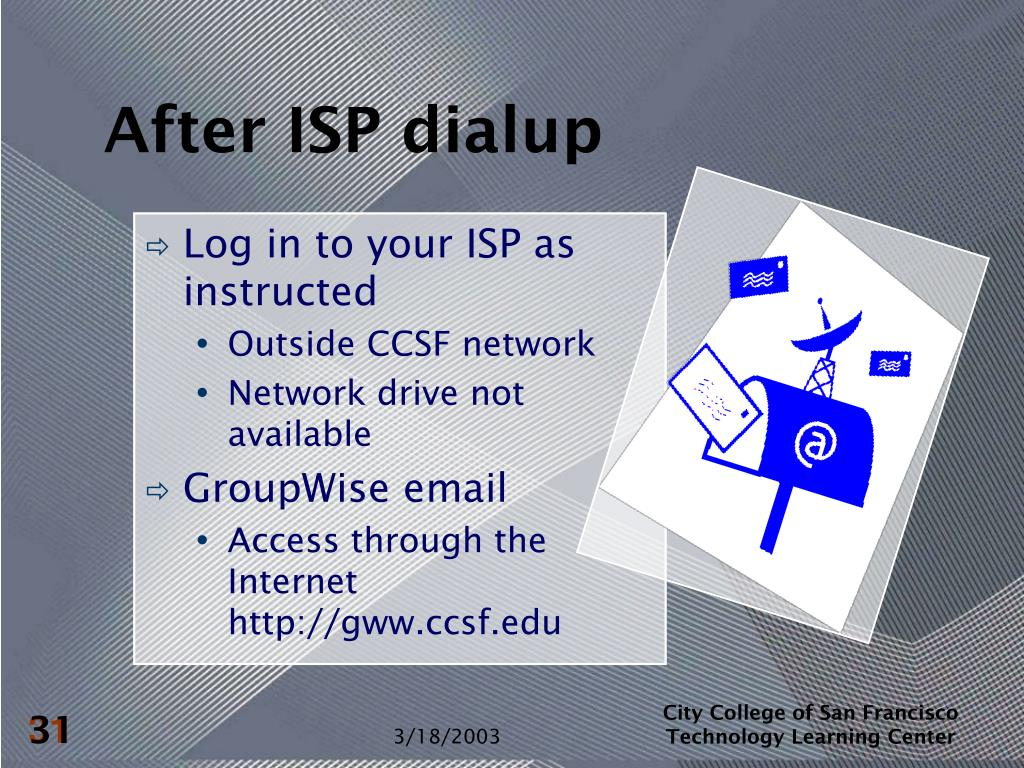 After ISP dialup