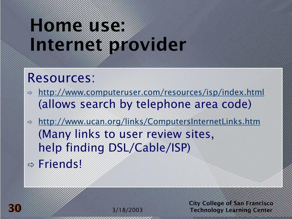 Home use: