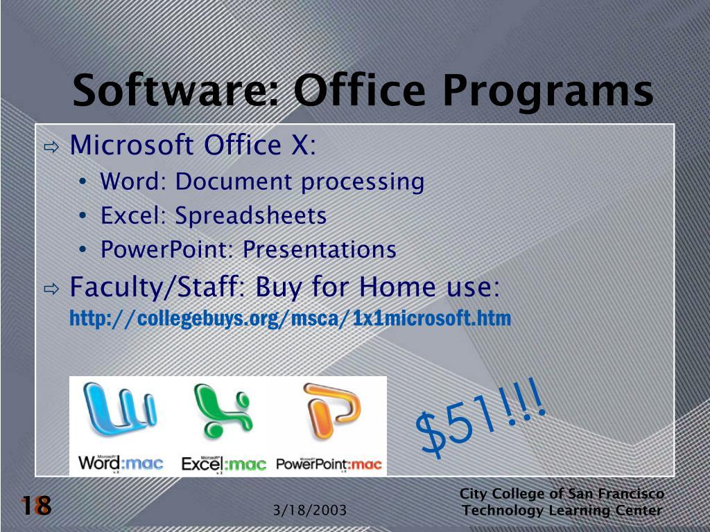 Software: Office Programs