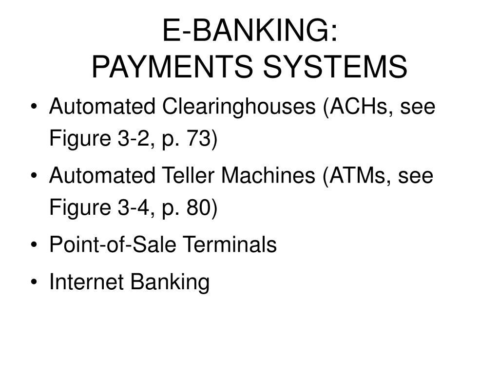 E-BANKING: