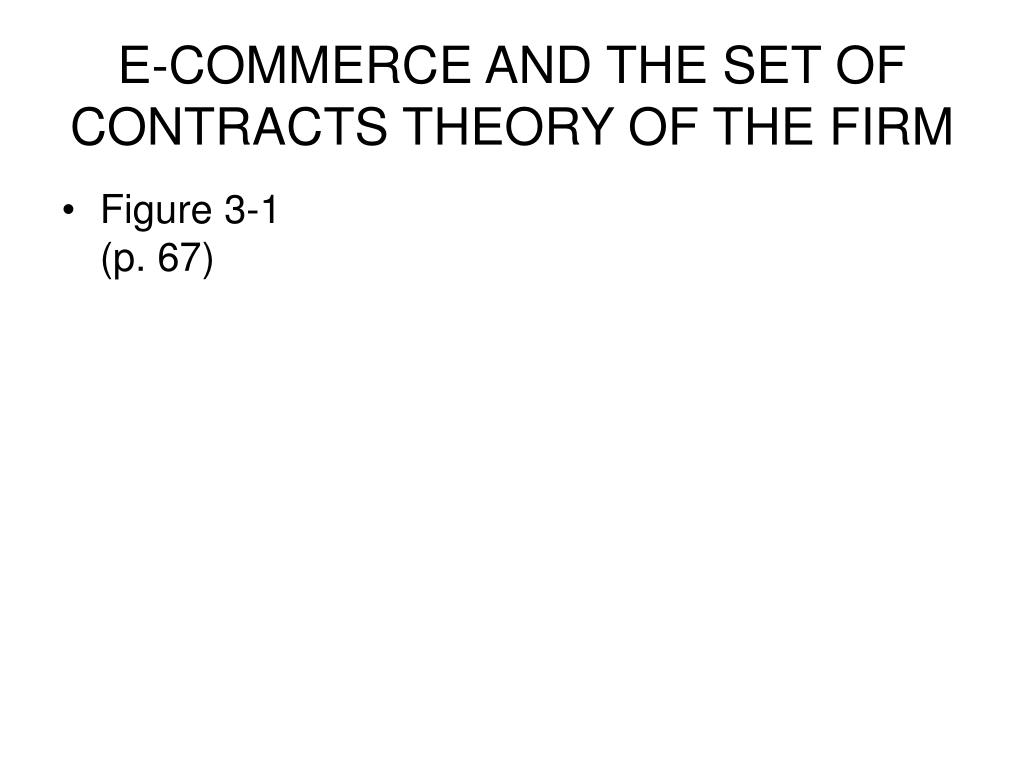 E-COMMERCE AND THE SET OF CONTRACTS THEORY OF THE FIRM