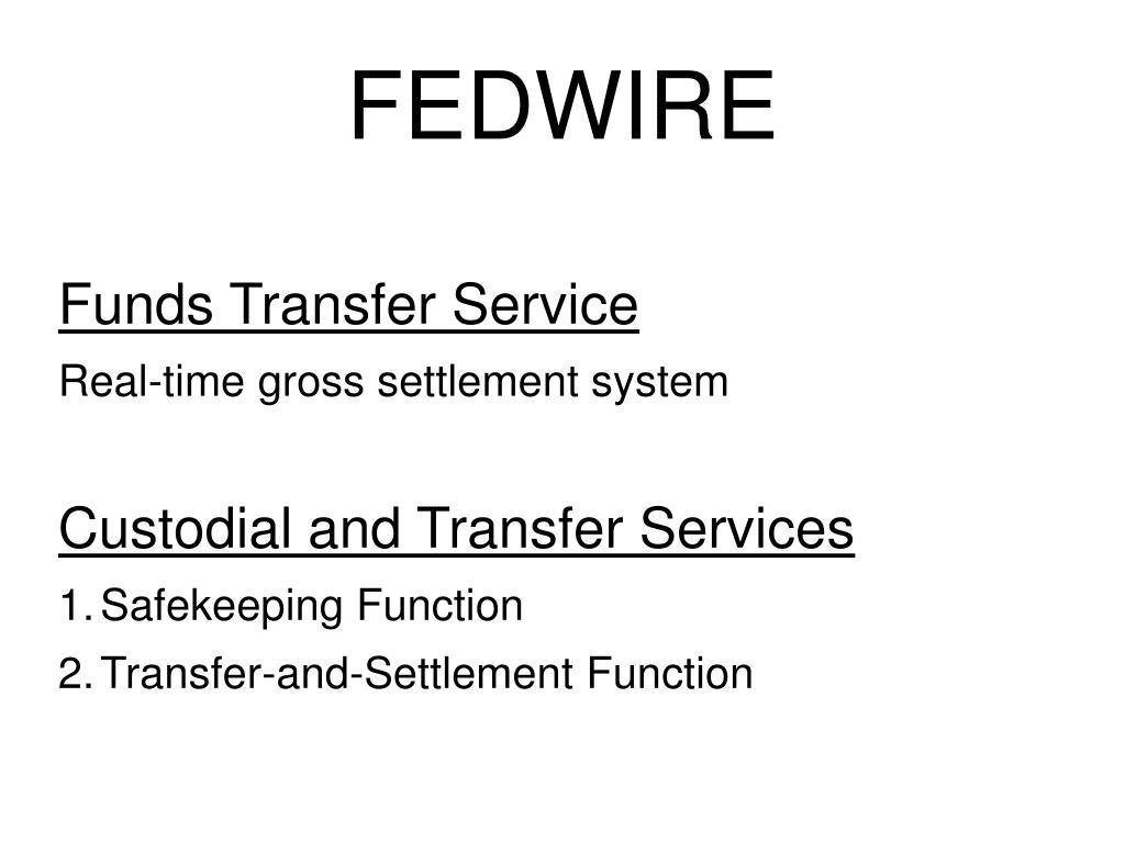 Funds Transfer Service