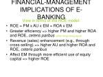 financial management implications of e banking