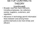set of contracts theory continued