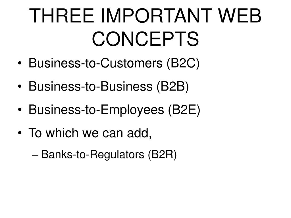 THREE IMPORTANT WEB CONCEPTS