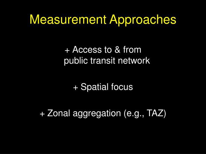Measurement Approaches