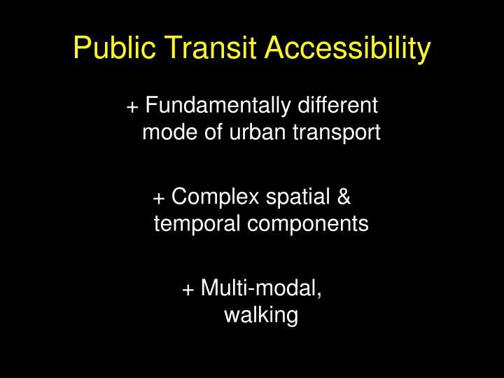 Public transit accessibility
