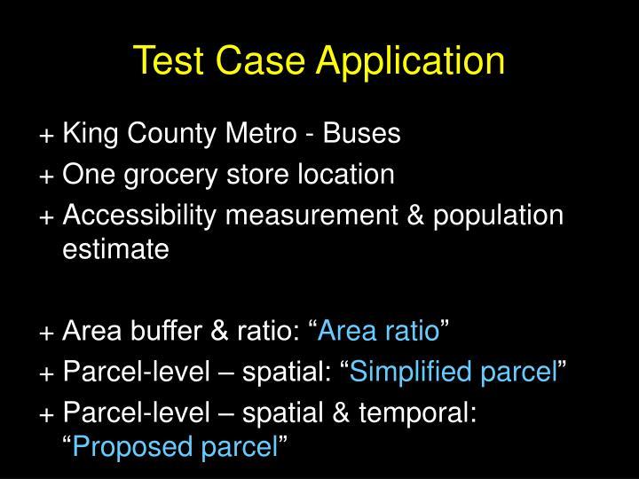 Test Case Application