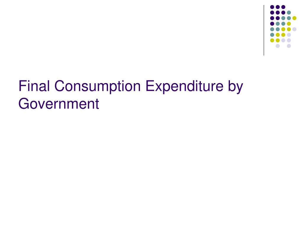 Final Consumption Expenditure by Government