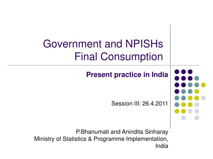 Government and npishs final consumption