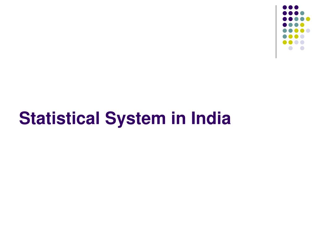 Statistical System in India
