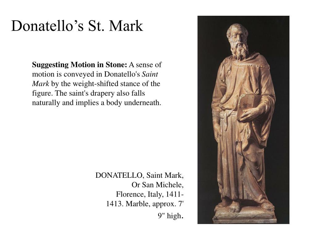 Donatello's St. Mark
