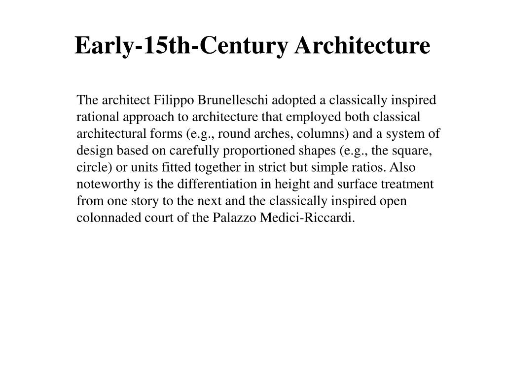 Early-15th-Century Architecture