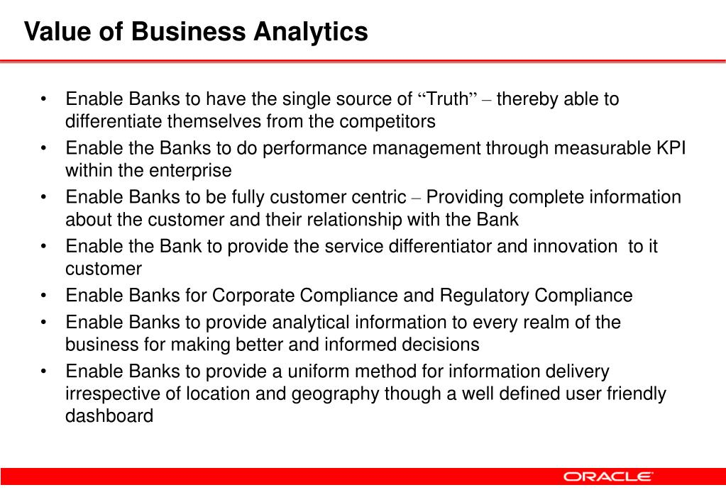 Value of Business Analytics
