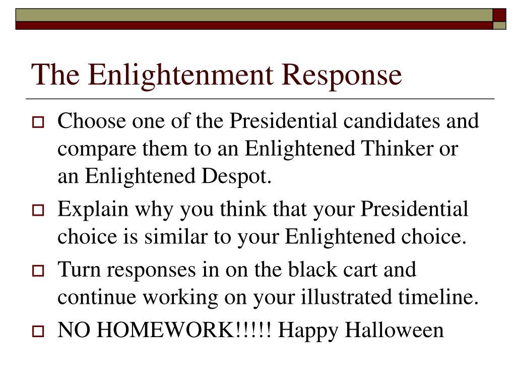 The Enlightenment Response