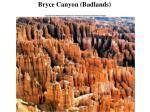 bryce canyon badlands