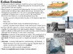 eolian erosion