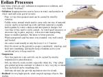 eolian processes