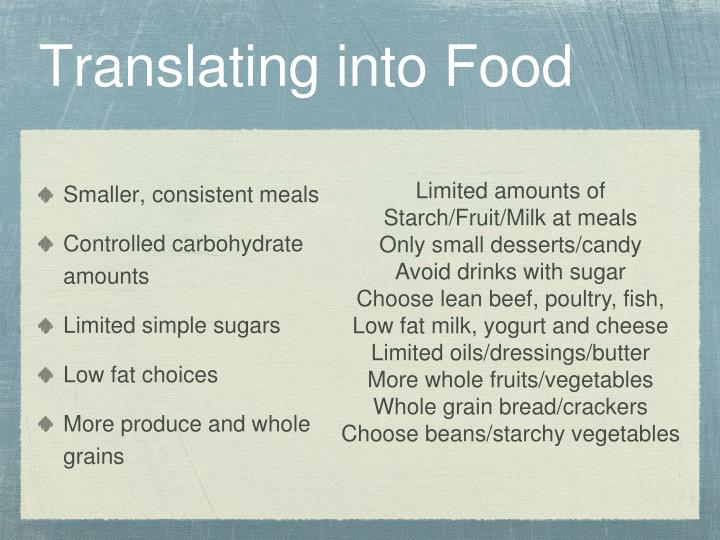 Translating into Food