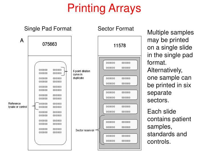 Printing Arrays