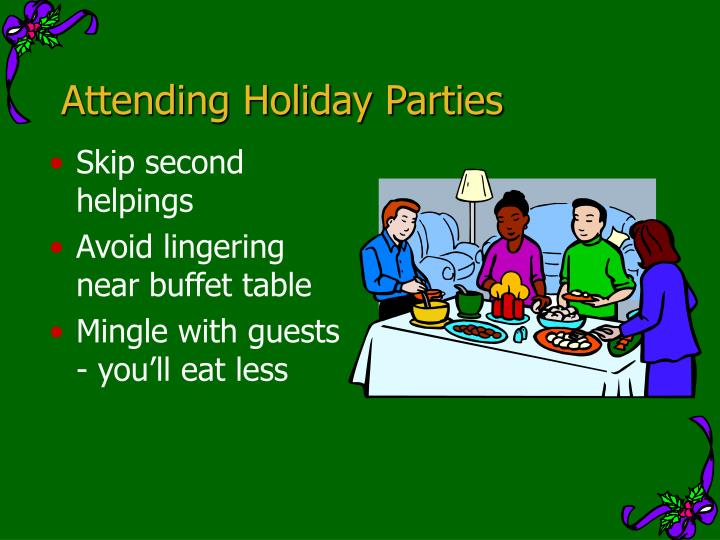 Attending Holiday Parties