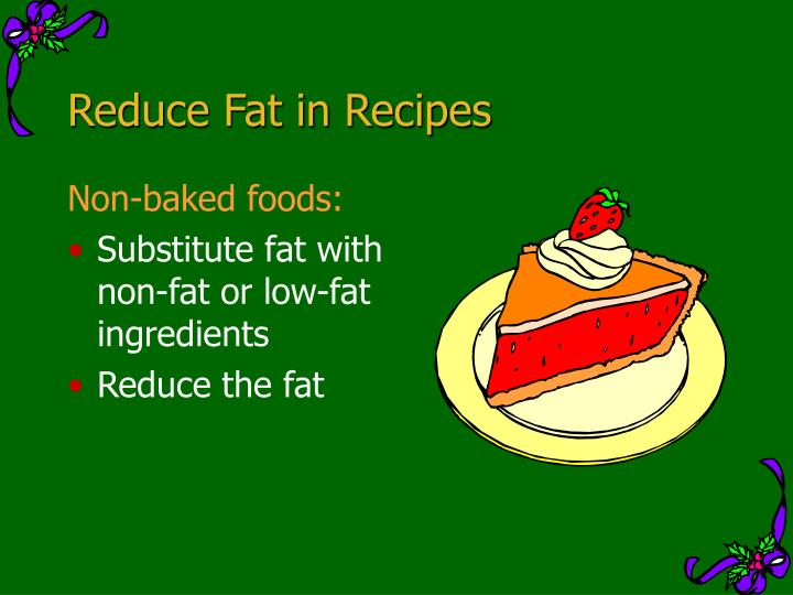 Reduce Fat in Recipes