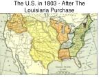 the u s in 1803 after the louisiana purchase