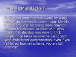 what is multifactor