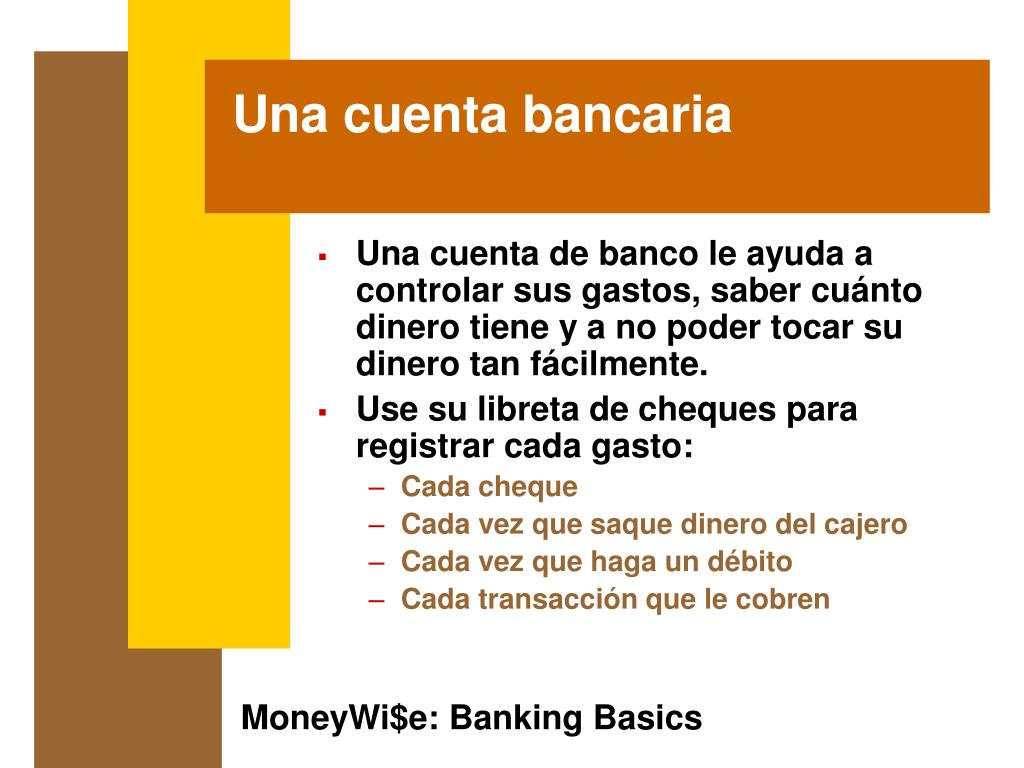 Una cuenta bancaria