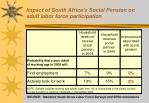 impact of south africa s social pension on adult labor force participation